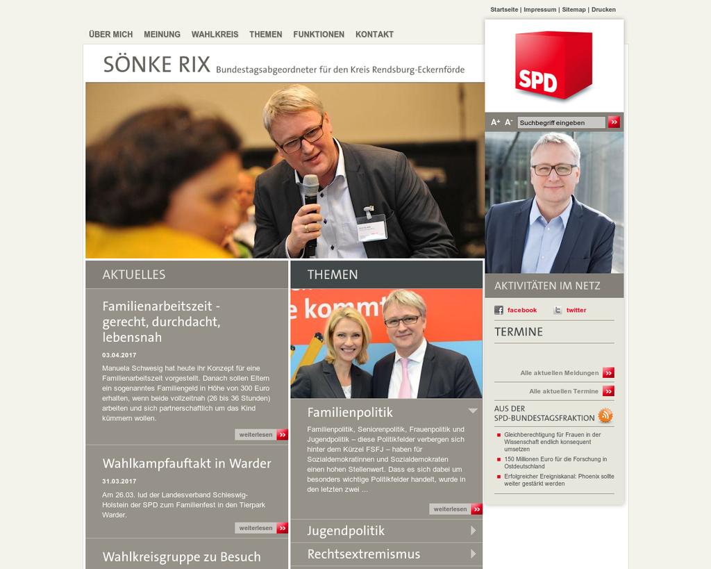 Sönke Rix (SPD), Schleswig-Holstein   wahl.de