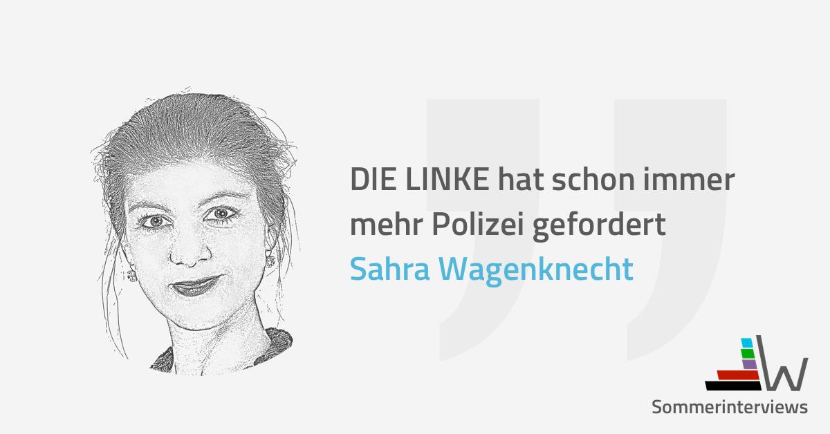 Sahra Wagenknecht Sommerinterview