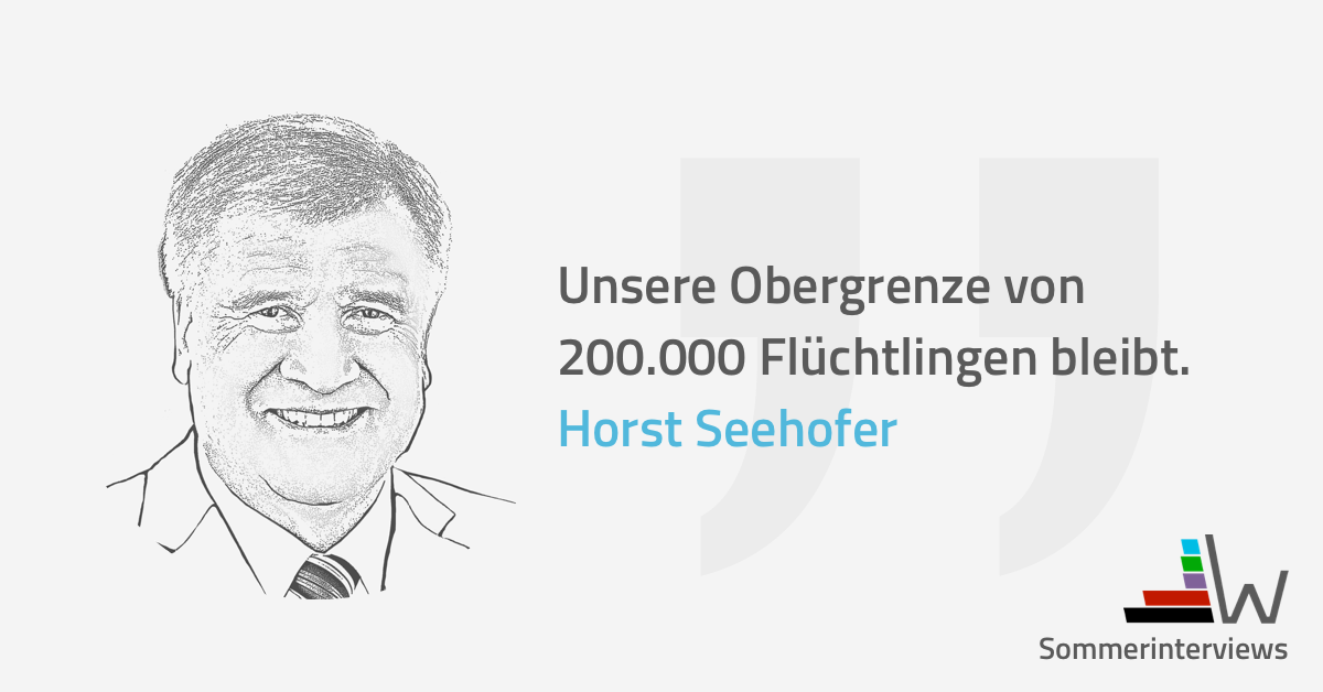 wahl.de Horst Seehofer CSU Sommerinterview