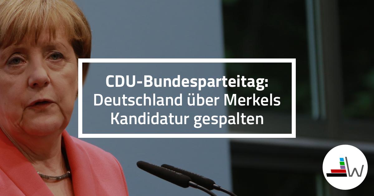 Deutschland über Merkels Kandidatur gespalten