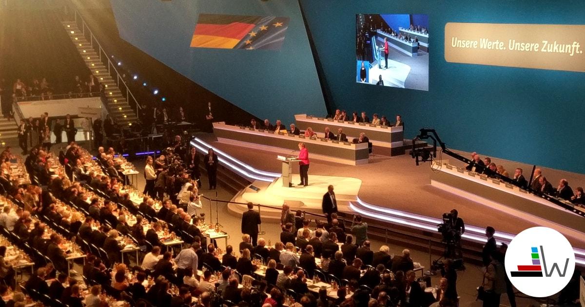 Merkel beim CDU-Parteitag in Essen