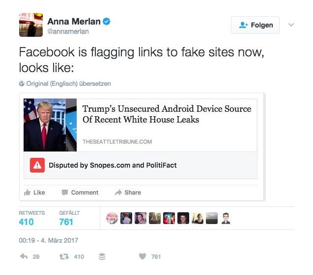 Facebook Fake Meldungen